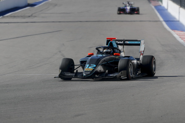 SOCHI AUTODROM, RUSSIAN FEDERATION - SEPTEMBER 29: Keyvan Andres (IRN, HWA RACELAB) during the Sochi at Sochi Autodrom on September 29, 2019 in Sochi Autodrom, Russian Federation. (Photo by Carl Bingham / LAT Images / FIA F3 Championship)