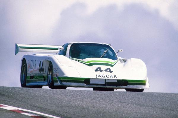 Laguna Seca, California, USA. 3rd May 1987. RD 6.Hurley Haywood / John Morton (Jaguar XJR-7), 4th position, action.World Copyright: LAT Photographic.