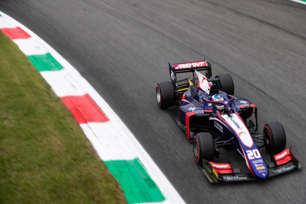 AUTODROMO NAZIONALE MONZA, ITALY - SEPTEMBER 06: Giuliano Alesi (FRA, TRIDENT) during the Monza at Autodromo Nazionale Monza on September 06, 2019 in Autodromo Nazionale Monza, Italy. (Photo by Joe Portlock / LAT Images / FIA F2 Championship)