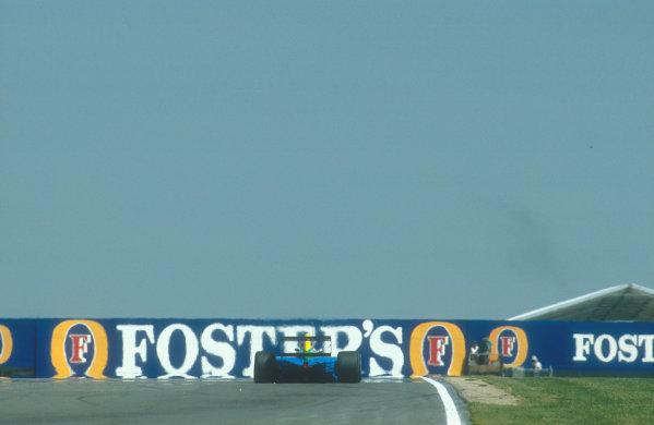 1990 British Grand Prix.Silverstone, England.13-15 July 1990.Nelson Piquet (Benetton B190 Ford) 5th position.Ref-90 GB 02.World Copyright - LAT Photographic