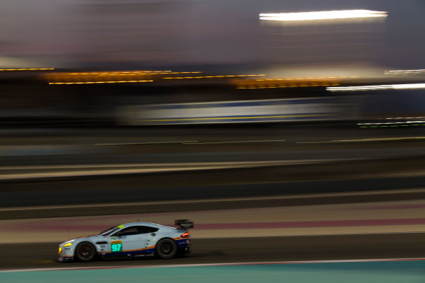 2015 FIA World Endurance Championship Bahrain 6-Hours Bahrain International Circuit, Bahrain Saturday 21 November 2015. Darren Turner, Jonny Adam (#97 GTE PRO Aston Martin Racing Aston Martin Vantage V8). World Copyright: Sam Bloxham/LAT Photographic ref: Digital Image _SBL5519