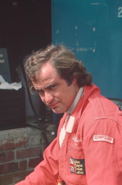 1977 Formula 1 World Championship.Gunnar Nilsson (Lotus-Ford Cosworth).Ref-N2A 09.World - LAT Photographic
