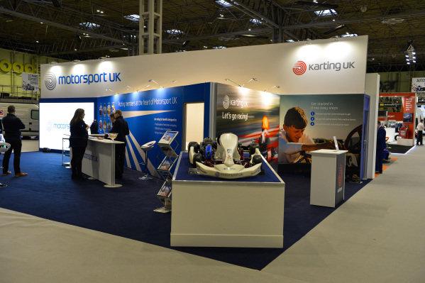 The Karting UK stand.