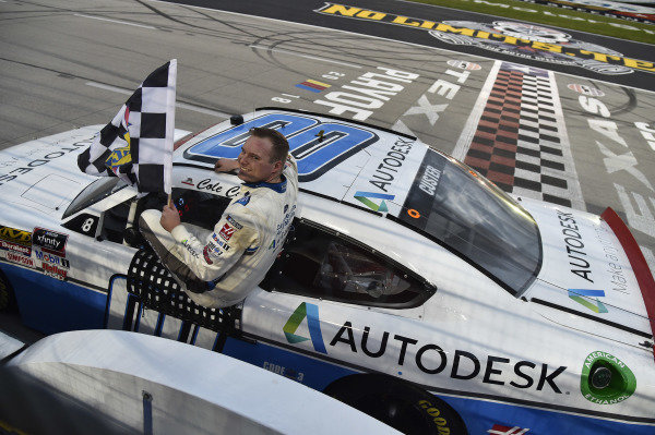#00: Cole Custer, Stewart-Haas Racing, Ford Mustang Autodesk celebrates his win