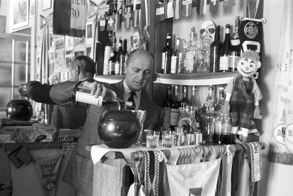 Louis Chiron fixes a drink at his bar.