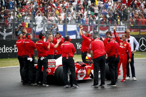 Mick Schumacher, Ferrari F2004 before a demonstration run