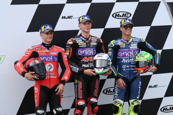 Polesitter Niki Tuuli, Ajo Motorsport, second place Hector Garzo, Tech 3, third place Eric Granado, Avintia Racing.