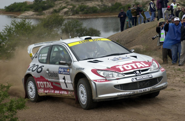 2001 World Rally Championship. ArgentinaMay 3rd-6th, 2001Marcus Gronholm on stage five.Photo: Ralph Hardwick/LAT