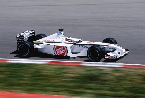 2001 Spanish Grand Prix.Catalunya, Barcelona, Spain. 27-29 April 2001.Olivier Panis (B.A R. 003 Honda) 7th position.Ref-01 ESP 26.World Copyright - Clive Rose/LAT Photographic