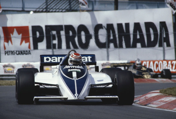1982 Canadian Grand Prix.Montreal, Quebec, Canada.11-13 June 1982.Nelson Piquet (Brabham BT50 BMW) 1st position.Ref-82 CAN 17.World Copyright - LAT Photographic