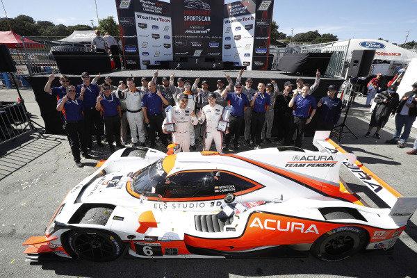 #6 Acura Team Penske Acura DPi, DPi: Juan Pablo Montoya, Dane Cameron, team, podium