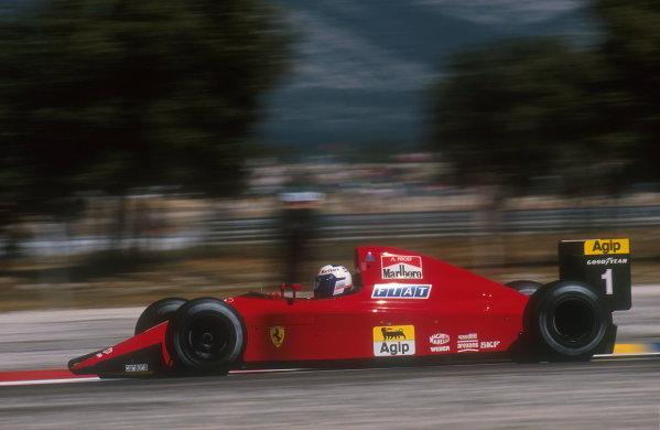1990 French Grand Prix.Paul Ricard, Le Castellet, France.6-8 July 1990.Alain Prost (Ferrari 641) 1st position.Ref-90 FRA 09.World Copyright - LAT Photographic