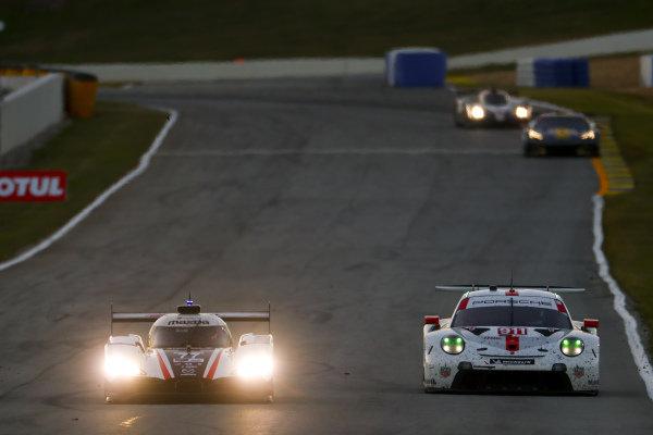 #77 Mazda Team Joest Mazda DPi, DPi: Oliver Jarvis, Tristan Nunez, Olivier Pla #911 Porsche GT Team Porsche 911 RSR - 19, GTLM: Robby Foley III, Bill Auberlen, Dillon Machavern