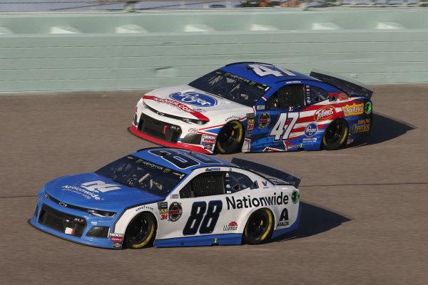 #88: Alex Bowman, Hendrick Motorsports, Chevrolet Camaro Nationwide #47: Ryan Preece, JTG Daugherty Racing, Chevrolet Camaro Kroger