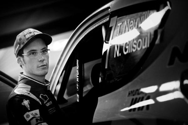 Thierry Neuville (BEL) / Nicolas Gilsoul (BEL) Hyundai i20 WRC at FIA World Rally Championship, Rd12, RAAC Rally de Espana, Preparations and Shakedown, Costa Daurada, Catalunya, Spain, 22 October 2015.