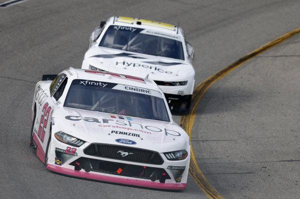 #22: Austin Cindric, Team Penske, Ford Mustang Carshop, #16: A.J. Allmendinger, Kaulig Racing, Chevrolet Camaro Hyperice