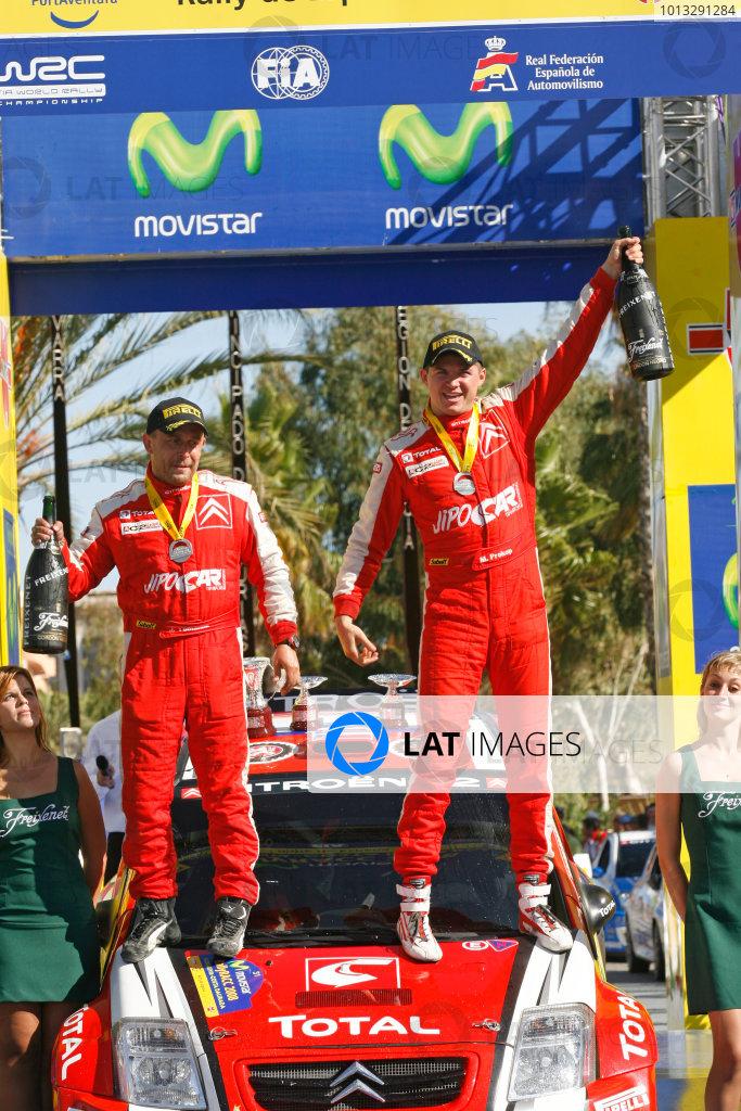 Round 11, Rally of Spain, Catalunya2nd-5th October 2008Martin Prokop, Citroen, PodiumWorldwide Copyright: McKlein/LAT