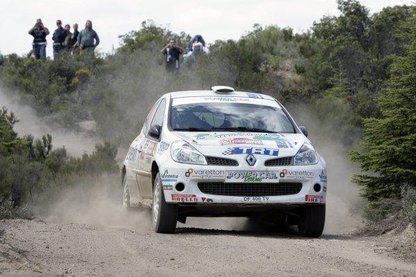 2008 FIA World Rally ChampionshipRound 06Rally d'Italia Sardegna 200815-18 of May 20Alessandro Bettega, Renault JWRC, Aktion