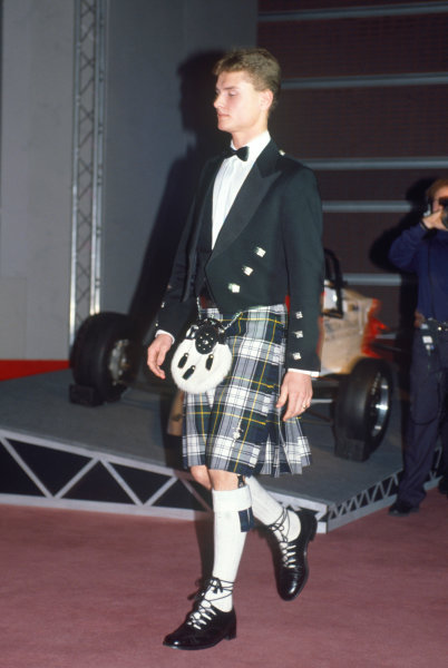 Queen Elizabeth II Conference Centre, London, England. 13th December 1990. David Coulthard.World Copyright: LAT PhotographicRef: 35mm transparency