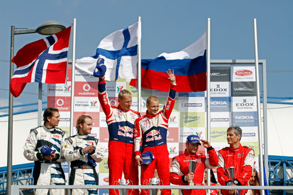 Round 04-Rally Portugal 28/3-1/4 2012. Mikko Hirvonen, Jarmo Lehtinen,Citroen WRC, PodiumWorldwide Copyright: McKlein/LAT