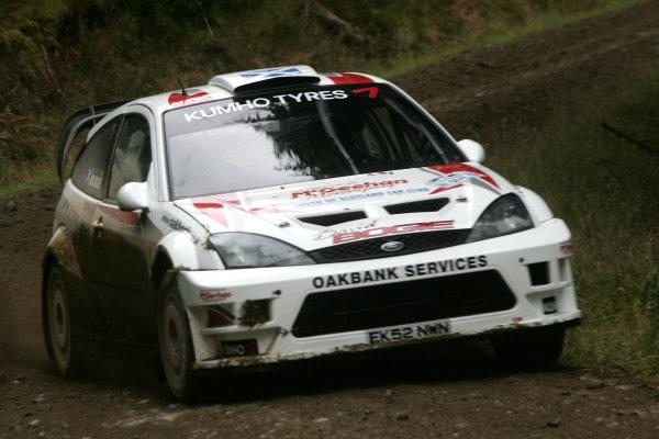 Perth, Scotland. 28th September 2008. David Bogie/Ken Rae - Ford Focus WRC. World Copyright: Ebrey/LAT Photographic