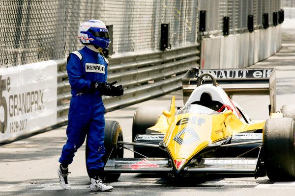 Monte Carlo, Monaco. Friday 26 May 2017. Alain Prost, Renault RE40. World Copyright: Charles Coates/LAT Images ref: Digital Image DJ5R7620