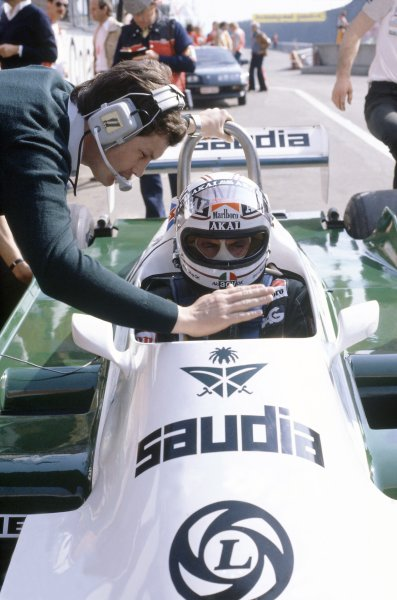 1981 Belgian Grand Prix.Zolder, Belgium. 15-17 May 1981.Alan Jones (Williams FW07C-Ford Cosworth), retired.World Copyright: LAT PhotographicRef: 35mm transparency 81BEL19