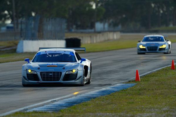 16-17 November, 2013, Sebring, Florida #48 Paul Miller Racing Audi R8 driven by Bryce Miller and Benoit Treluyer. @2013 Richard Dole LAT Photo USA