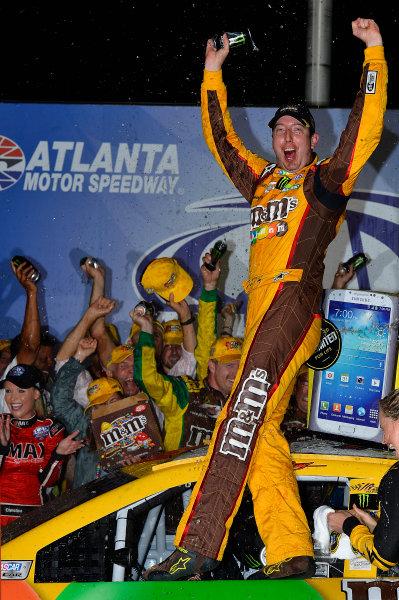August 30 - September 1, 2013, Hampton, Georgia USA Kyle Busch, M&M's Toyota Camry in Victory Lane © 2013, Brian Czobat LAT Photo USA