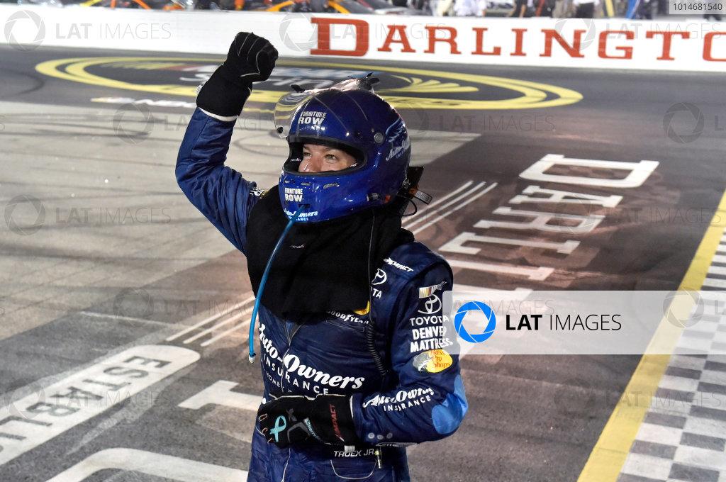 3-4 September, 2016, Darlington, South Carolina USA Martin Truex Jr celebrates his victory ? 2016, Nigel Kinrade LAT Photo USA