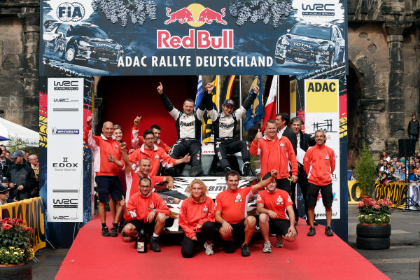 Round 09-Rallye Deutschland 23-26/8-2012.Michal Kosciuszko, Mitsubishi PWRC, Podium.Worldwide Copyright: McKlein/LAT