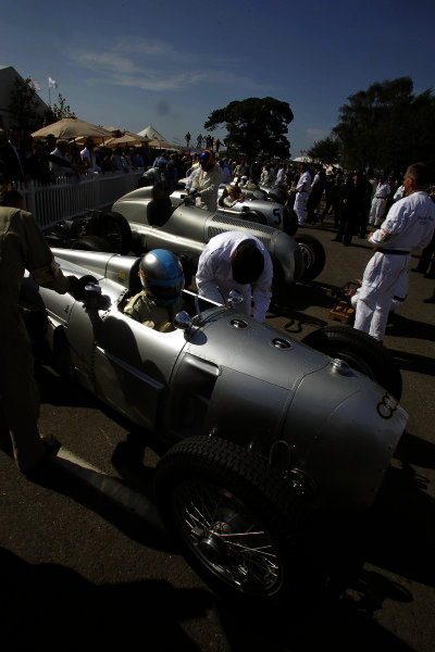 Goodwood Estate, West Sussex, England. 14th September 2012. Silver Arrows Demonstration.