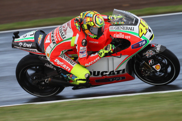 British Grand Prix. Silverstone, England. 15th-17th June 2012. Valentino Rossi, Ducati. World Copyright: Kevin Wood/LAT Photographic. ref: Digital Image IMG_6292a