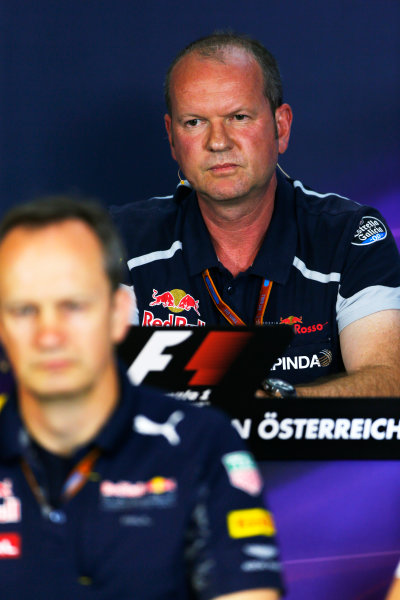 Red Bull Ring, Spielberg, Austria. Friday 01 July 2016. Graham Watson, Team Manager, Toro Rosso, in the team principals Press Conference. World Copyright: Andy Hone/LAT Photographic ref: Digital Image _ONZ5160