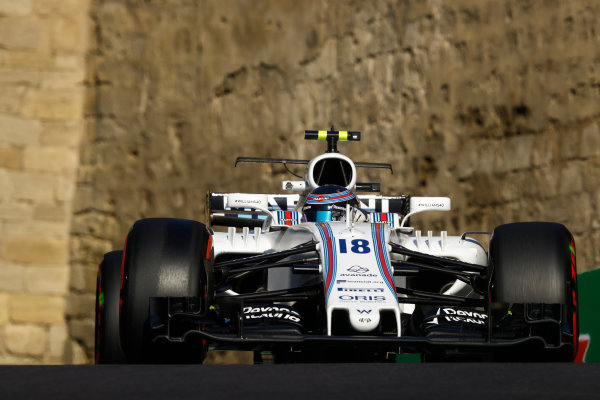 Baku City Circuit, Baku, Azerbaijan. Friday 23 June 2017. Lance Stroll, Williams FW40 Mercedes. World Copyright: Steven Tee/LAT Images ref: Digital Image _O3I1329