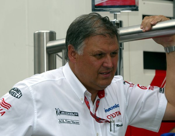 Norbert Kreyer (GER) Senior General Manager of Race and Test Engineering for Toyota.Formula One World Championship, Rd13, Hungarian Grand Prix, Preparations, Hungaroring, Hungary, 21 August 2003.DIGITAL IMAGE