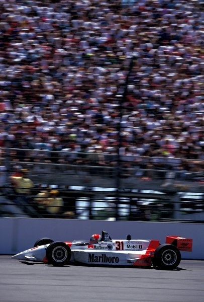 Race winner Al Unser Jr. (USA) Penske Mercedes PC23.