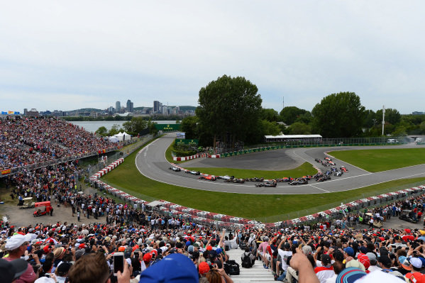 Lewis Hamilton (GBR) Mercedes AMG F1 W06 leads at the start of the race at Formula One World Championship, Rd7, Canadian Grand Prix, Race, Montreal, Canada, Sunday 7 June 2015. BEST IMAGE