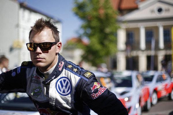 Andreas Mikkelsen (NOR) Volkswagen Polo R WRC at FIA World Rally Championship, Rd7, Lotos 71st Rally Poland, Preparations & Shakedown, Mikolajki, Poland, Thursday 2 July 2015.