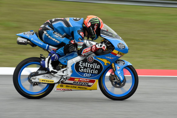 2017 Moto3 Championship - Round 17 Sepang, Malaysia. Friday 27 October 2017 Aron Canet, Estrella Galicia 0,0 World Copyright: Gold and Goose / LAT Images ref: Digital Image 25059