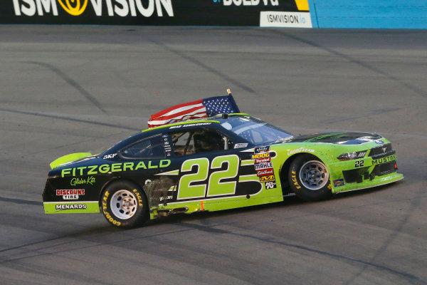 NASCAR Xfinity Series DC Solar 200 ISM Raceway, Phoenix, AZ USA Saturday 10 March 2018 Brad Keselowski, Team Penske, Ford Mustang Fitzgerald Glider Kits celebrates his win World Copyright: Russell LaBounty NKP / LAT Images