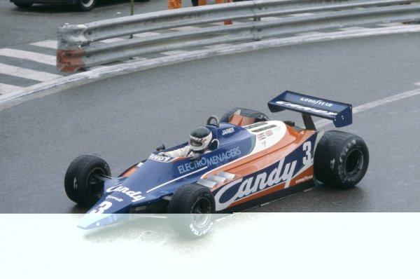 1980 Monaco Grand Prix.Monte Carlo, Monaco. 15-18 May 1980.Jean-Pierre Jarier (Tyrrell 010-Ford Cosworth), retired.World Copyright: LAT PhotographicRef: 35mm transparency 80MON04