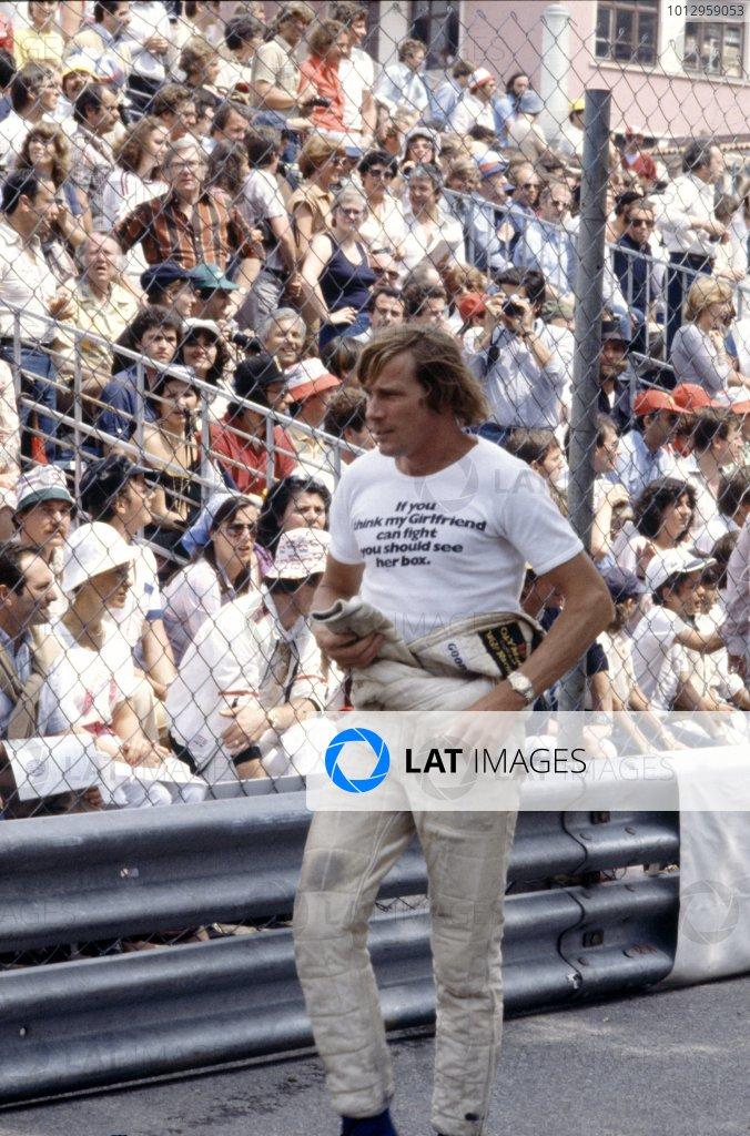 1979 Monaco Grand Prix.Monte Carlo, Monaco.24-27 May 1979.James Hunt (Wolf WR7-Cosworth), retired, portrait.World Copyright - LAT PhotographicRef: 35mm colour transparency.