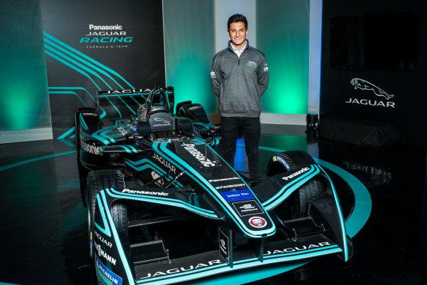 Panasonic Jaguar Racing RE:CHARGE LIVE EVENT Whitely Engineering Centre, Warwickshire, UK Thursday 21 September 2017. Mitch Evans Photo: Andrew Ferraro/LAT/Jaguar ref: Digital Image _FER7265