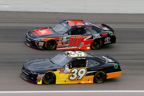 NASCAR XFINITY Series Kansas Lottery 300 Kansas Speedway, Kansas City, KS USA Saturday 21 October 2017 Ryan Sieg, RSS Racing Chevrolet Camaro and Christopher Bell, JBL Toyota Camry World Copyright: Russell LaBounty LAT Images