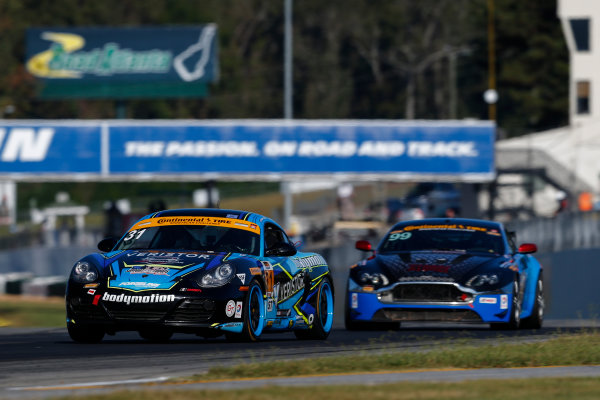 IMSA Continental Tire SportsCar Challenge Fox Factory 120 Road Atlanta, Braselton GA Thursday 5 October 2017 31, Porsche, Porsche Cayman, ST, Drake Kemper, Devin Jones World Copyright: Jake Galstad LAT Images