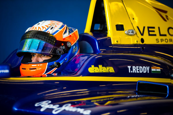 2016 GP3 Series Test 5. Yas Marina Circuit, Abu Dhabi, United Arab Emirates. Thursday 1 December 2016. Tarun Reddy (IND, DAMS)  Photo: Sam Bloxham/GP3 Series Media Service. ref: Digital Image _SLB3057