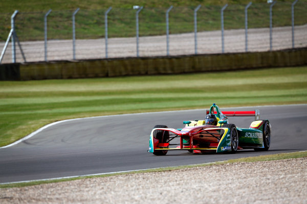 FIA Formula E Season 3 Testing - Day Two. Donington Park Racecourse, Derby, United Kingdom. Daniel Abt, ABT Schaeffler Audi Sport, Spark-Abt Sportsline. Wednesday 24 August 2016. Photo: Adam Warner / LAT / FE. ref: Digital Image _L5R0435