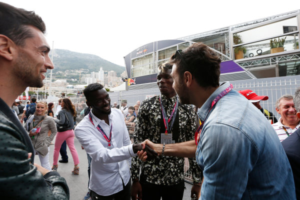 Monte Carlo, Monaco. Sunday 24 May 2015. Paul Pogba of Juventus visits the paddock. World Copyright: Alastair Staley/LAT Photographic. ref: Digital Image _79P7003