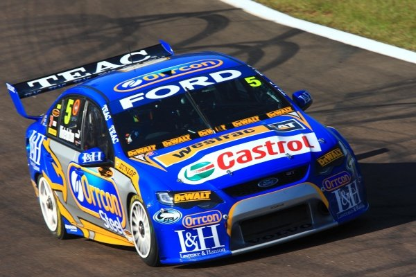 Mark Winterbottom (AUS) Orrcon FPR Ford was 2nd in race 9.Australian V8 Supercars, Rd5, SkyCity Triple Crown, Hidden Valley, Darwin, NT, Australia. 20-21 June 2009.